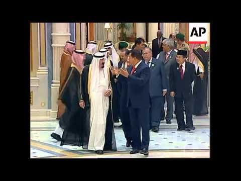 WRAP Arrivals for opening ceremomy of OPEC summit, Chavez