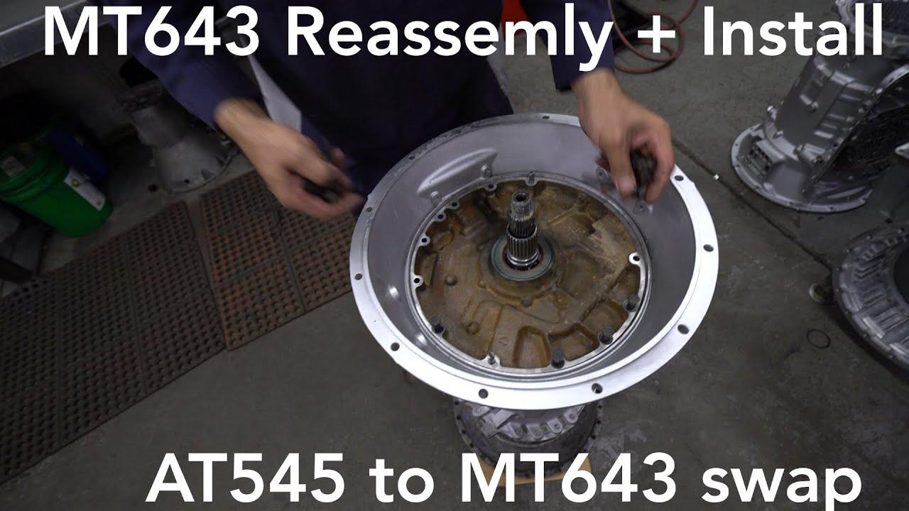 ALLISON REBUILT MT643 - Reassembly + DYNO test  AT545 Swap