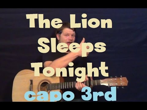 The Lion Sleeps Tonight (The Tokens) Easy Guitar Lesson How to Play Tutorial