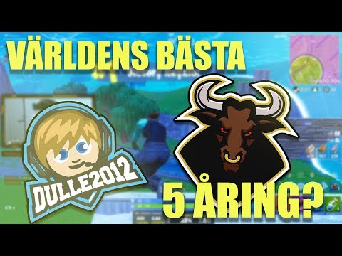 Galet game med Dulle2012 (Världens bästa 5 åring?) | Fortnite på Svenska