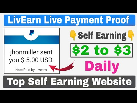 LivEarn Website Live Payment Proof 🔥| Daily Self Earning $2 to $3 Easily
