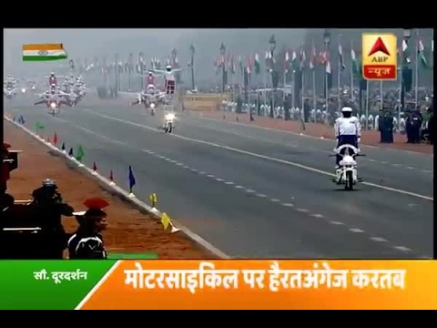 68th Republic Day : 'Dare Devils'- motorcycle display team of Corps of Military Police