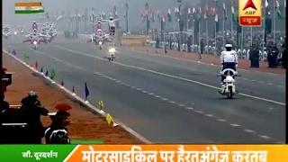 شاهد: استعراض رائع للدراجات النارية احتفالا بالعيد الوطني للهند