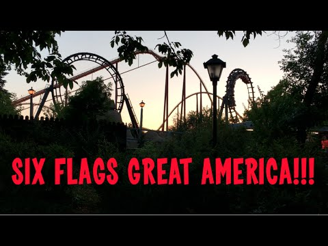 Six Flags Great America Park Vlog, Theme Park in Gurnee by Chicago, Very unOfficial Travel Guide