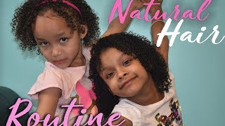 Dani and Dannah's Natural Hair Routine - 4 Easy Steps!!!
