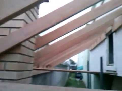 Telhado de uma agua da casa para o muro youtube - Muro de agua ...
