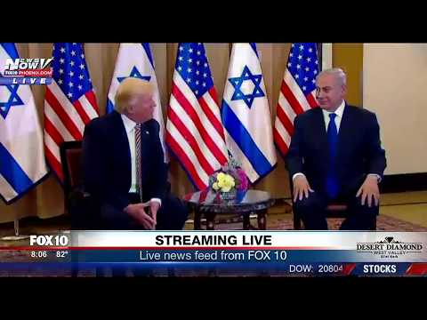 WATCH: President Trump Meets with Prime Minister Netanyahu in Israel, Makes Russia Comment (FNN)
