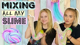 MIXING ALL MY SLIME! | Teaching my Cousin how to make Slime!
