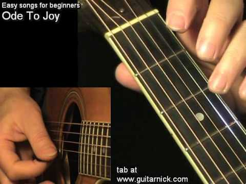 ODE TO JOY : Easy Guitar Lesson + TAB by GuitarNick