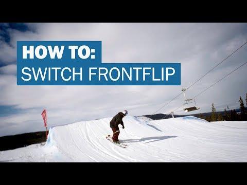 How to SWITCH FRONTFLIP on skis with Jesper Tjäder