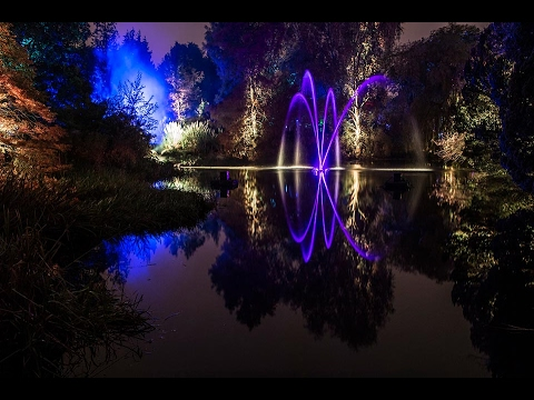 Amazing Botanic Gardens Edinburgh Light Show Youtube