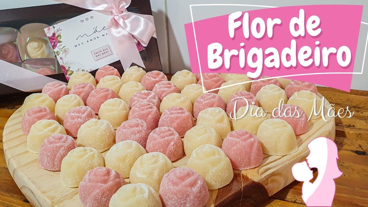 FLOR DE BRIGADEIRO (PRESENTE DIA DAS MÃES)