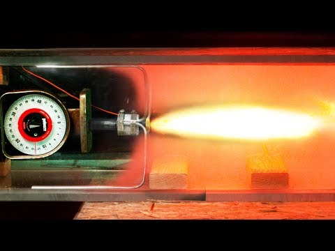 Solid Rocket Fired in a Vacuum Chamber in Slow Motion - Newton's 3rd Law Visualized 4K