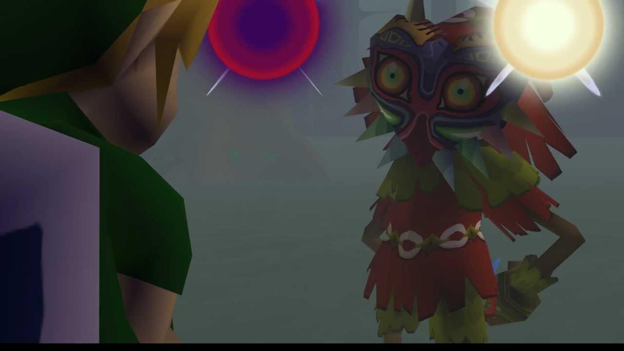 Legend of Zelda - Majora's Mask Intros (Djipi's Cel Shaded Texture Mod)