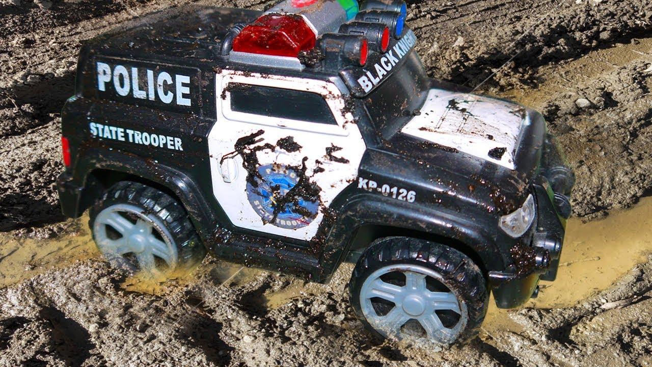 Aprende los Colores | Carros de Policía de Juguete para Niños | Police