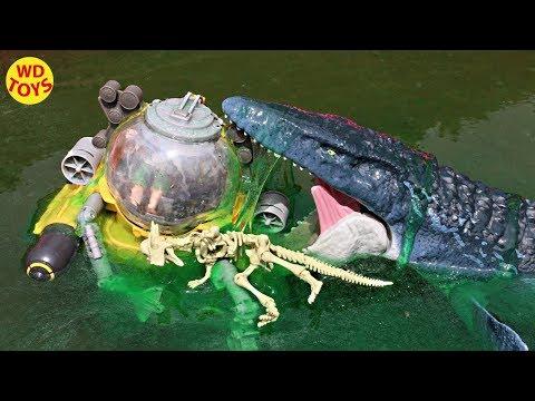 New Jurassic World Mosasaurus Vs Slime Fallen Kingdom Dinosaur Toys Get Slimed Real Feel Mosasaurus