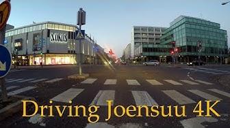 4K Driving Joensuu keskusta to VT 6  - original sound