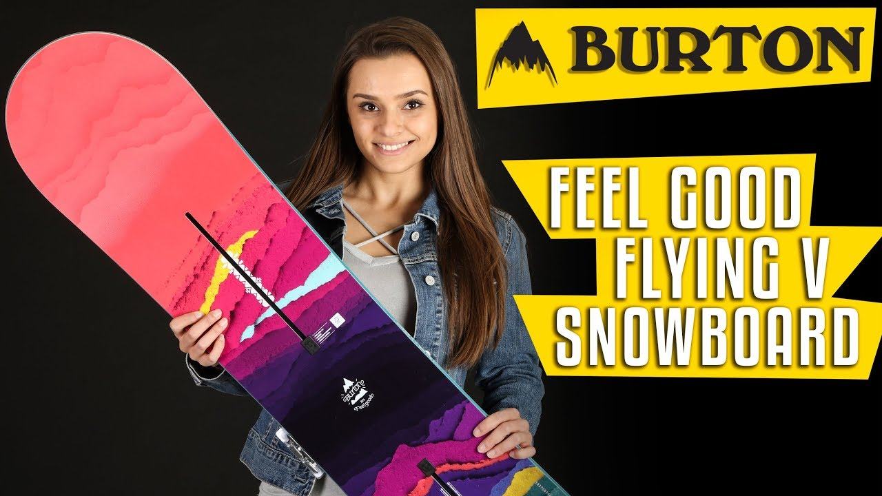 39f980837e 2018 Burton Feelgood Flying V Snowboard - Womens - Review - The-House.com