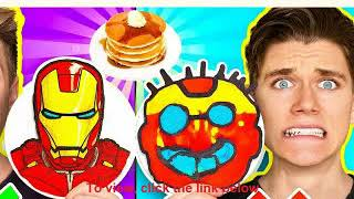 Pokemon Detective Pikachu Pancake Art  FOOD ART CHALLENGE & How To Make the Best Avengers