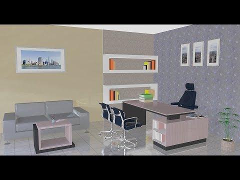 Sketchup Interior design ( Office room )