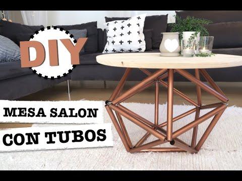 DIY | COMO HACER UNA MESA DE SALON CON TUBOS | FACIL Y ECONOMICO