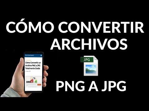 Cómo Convertir un Archivo PNG a JPG