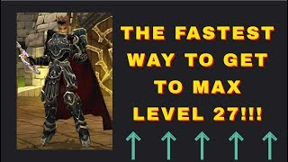AQ3D THE FASTEST WAY TO MAX LEVEL 27   AdventureQuest 3D