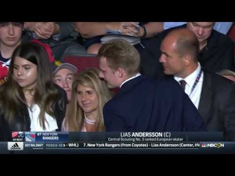 New York Rangers draft (F) Lias Andersson No. 7 | NHL Draft 2017