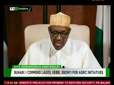 #Nigeria@57: President Buhari's Independence Day Speech