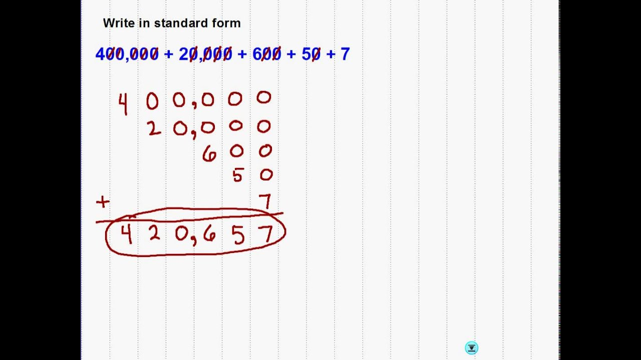 write the expanded form of 702  Writing expanded form in word form