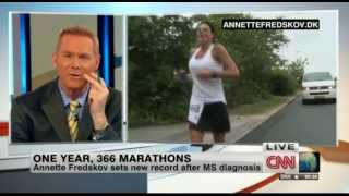 CNN International Desk 17. juli 2013 - Annette Fredskov & 366 Marathon in 365 days
