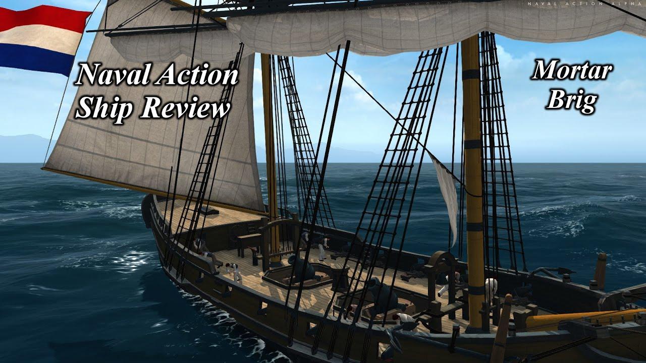 Mortars On Ships : Naval action ship review mortar brig youtube
