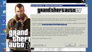 How to fix the release date check on the retail DVD disc version of Grand Theft Auto IV PC