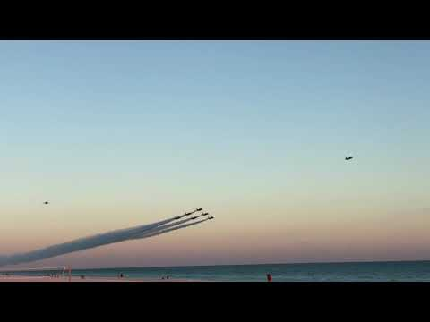 Blue Angels  Pensacola Beach fly by