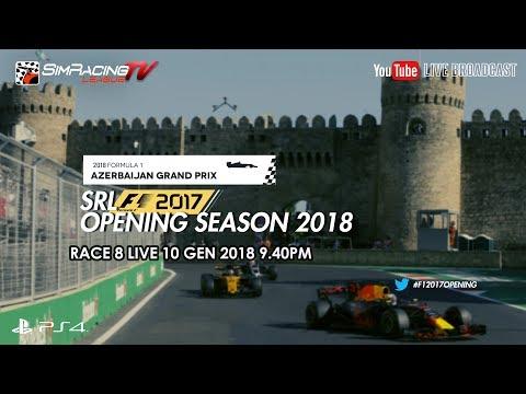 F1 2017 - SRL Opening Season 2018 - RACE 8 | Azerbaijan GP LIVE