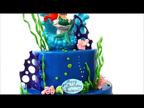 Ariel disney princess theme cake - Mermaid Cake