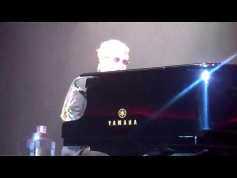 Elton John honoring Neil Diamond