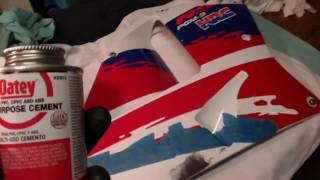 abs fairing repair honda nsr250 plastic glues bonds