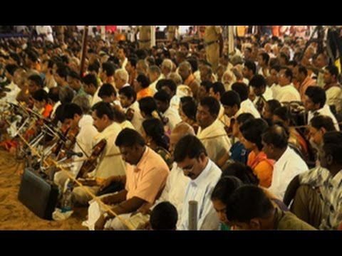 Hundreds of Musicians paying homage, Sri Thyagaraja, Thyagaraja Music Festival