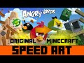 Angry Birds Minecraft (Re-make Picture) -Speed Art-