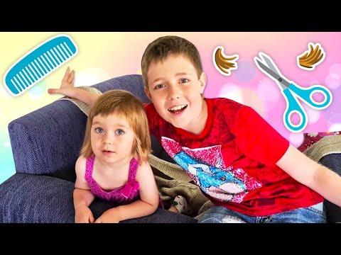 Бьянка и Адриан едут стричься! Новые причёски для детей. Влог Маши Капуки