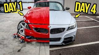 Download Rebuilding (And Modifying) A DESTROYED BMW Sports Car In 4 Days Mp3 and Videos