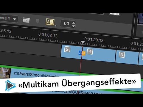 Übergangseffekte im Multikamera Editor in Pinnacle Studio 20 Deutsch Video Tutorial #3