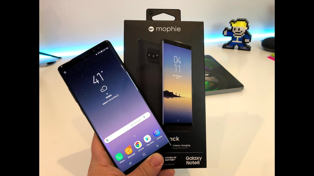 best service 9415f 79a25 Mophie Juice Pack for the Samsung Note 8 Unboxing and Review