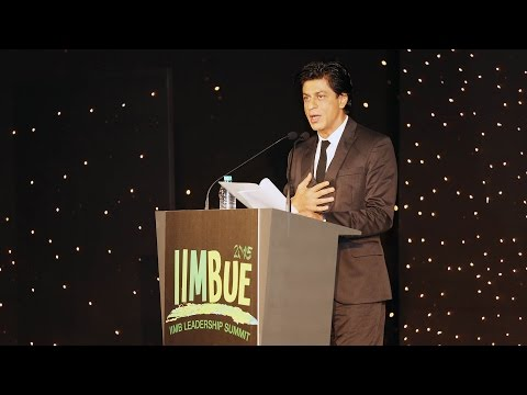 Follow the heart in Life and Leadership: Shah Rukh Khan at IIMBUE 2015