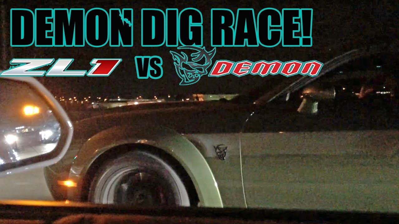 Demon Vs Zl1 Street Race From A Dig Round 2