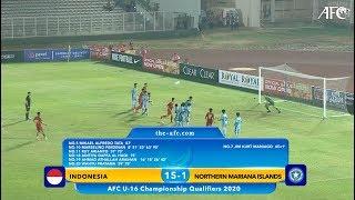 AFC U16 Qualifiers 2020 Group G : INDONESIA 15-1 NORTHERN MARIANA ISLANDS