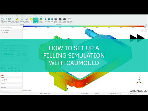 How to set up a filling simulation in CADMOULD