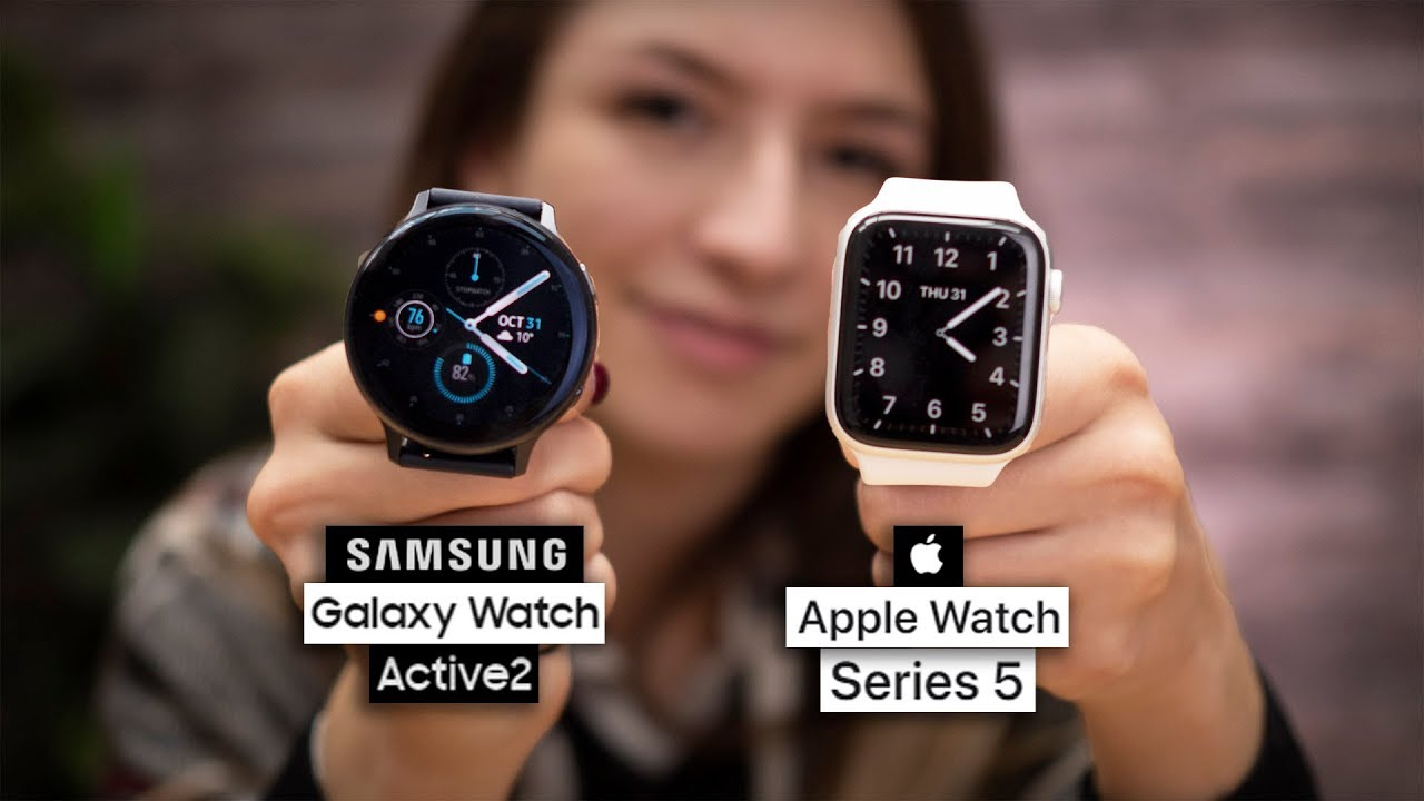 Apple Watch Series 5 Vs Galaxy Watch Active 2 Youtube