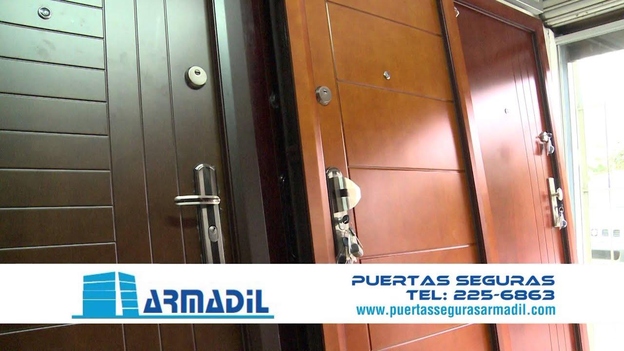 Puertas blindadas armadil youtube for Puertas blindadas